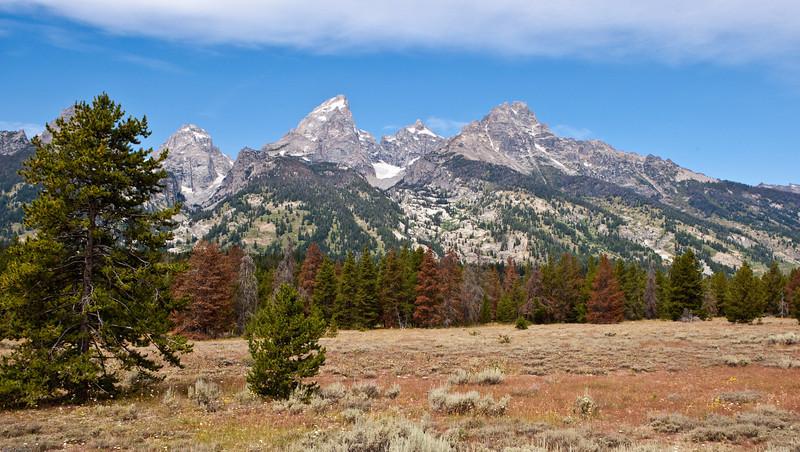 4M9F9087-1. Teton Mountain Range.