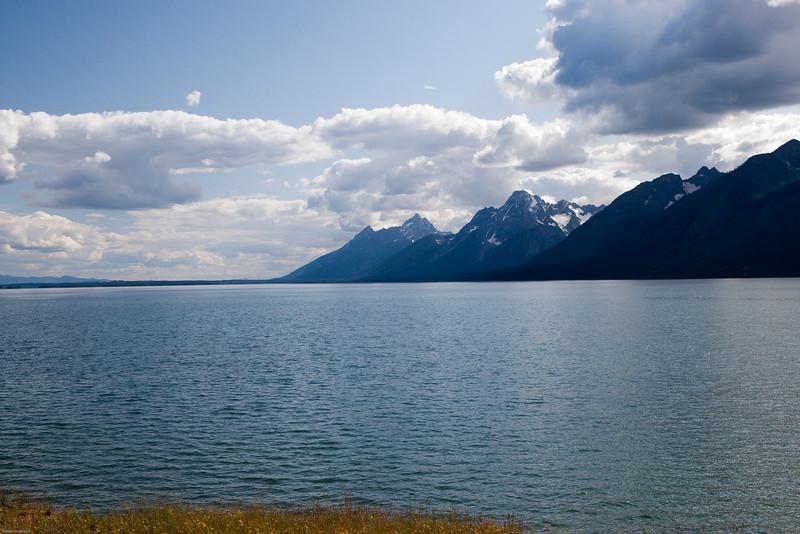 4M9F8778-1. Jackson Lake in the Grand Teton National Park.