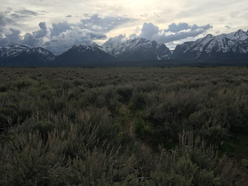 Tetons with plentiful clouds