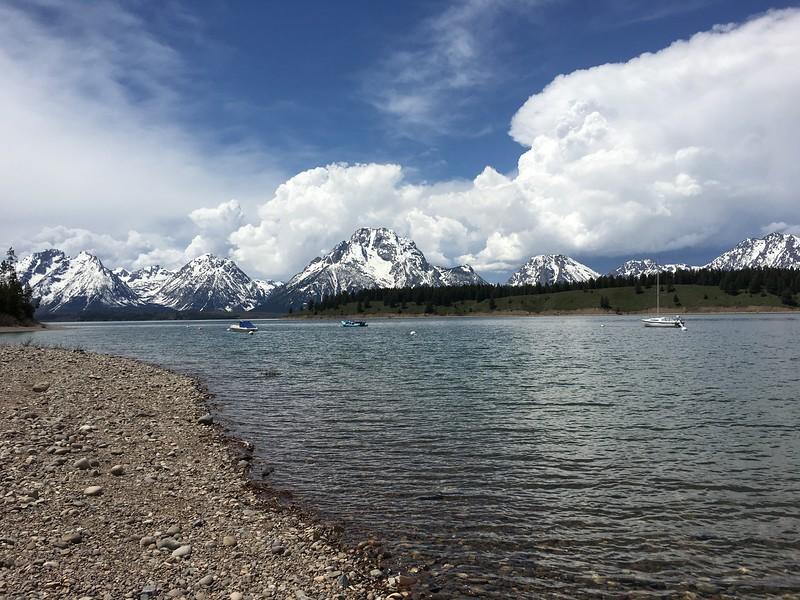 Tetons from Jackson Lake