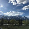 Tetons from Dornans in Moose, WY