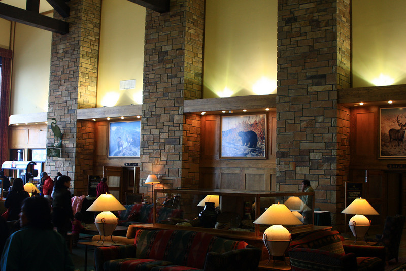 Inside Jackson Lake Lodge
