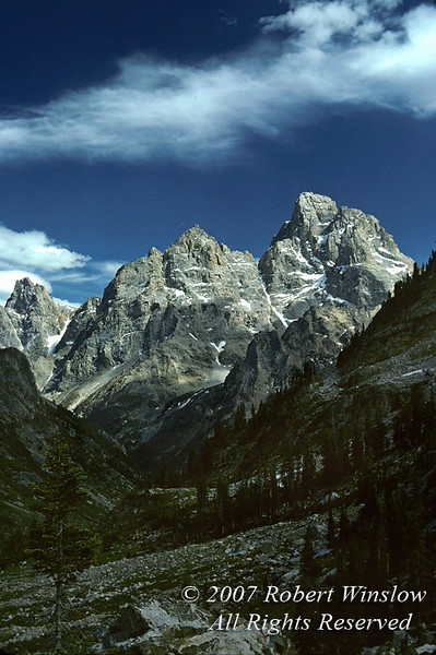 Grand Tetons from North Fork of Cascade Canyon, Grand Teton National Park, Wyoming, USA, North America