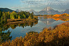 Autumn, Early Morning, Oxbow Bend, Snake River, Mount Moran, Grand Teton National Park, Wyoming, USA, North America
