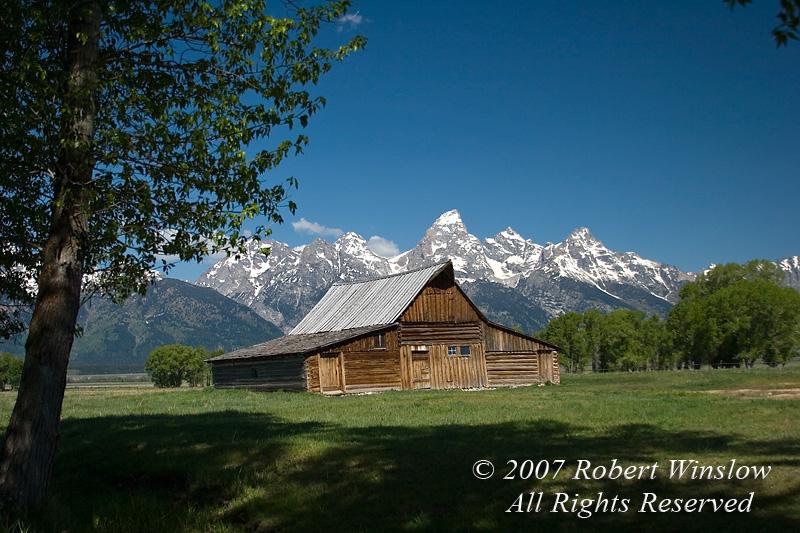 Barn, Grand Teton National Park, Wyoming, USA, North America