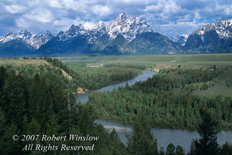 Snake River Overlook, Grand Tetons, Grand Teton National Park, Wyoming, USA, North America