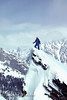 Winter Mountaineering, Climbing on Mount Moran, Grand Teton National Park, Wyoming, USA, North America