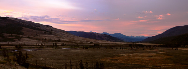 Lamar Valley at sunrise