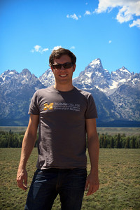 Ryan O. in front of the Tetons