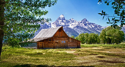 Moulton Barn on Mormon Row outside Jackson, WY