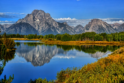 A reflection of the Mt.Moran at 'Oxford Bend'.