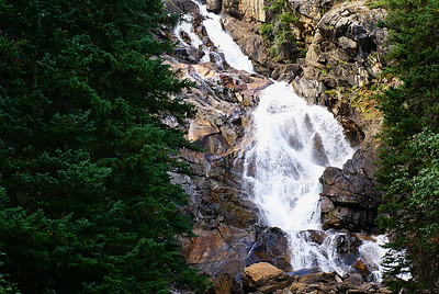 Hidden falls near Jenny lake. Reached here by a shuttle boat from Jenny Lake visitor center, followed by a short hike.