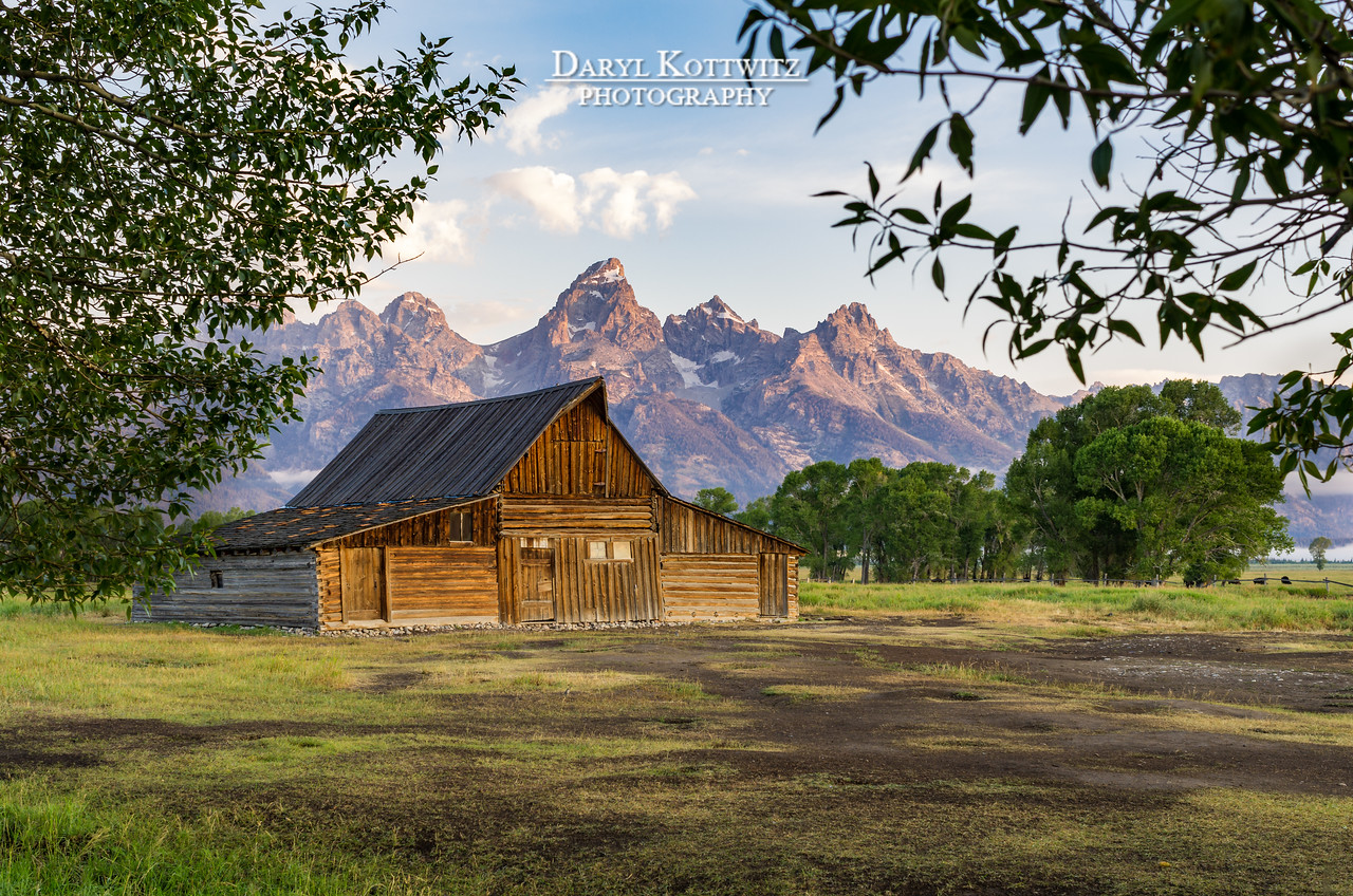 The barns on Mormon Row make a compelling foreground to the Grand Tetons, especially during morning's early light when this photo was taken.