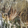 """The Grand Canyon of the Yellowstone is an amazing, out of this world, kind of landscape.  See the Osprey nest perched on top of the rock formation to the right?  There were two young and a parent in the nest.  The first flight from that nest will be """"do or die""""!"""