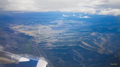 Flying into Jackson, Wy
