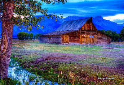 Moulton barn HDR at dawn