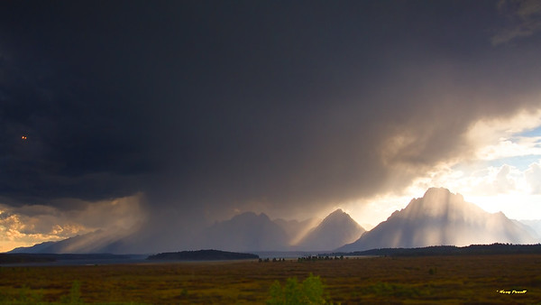 afternoon storm near Grand Tetons