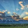 Sunrays over the Tetons