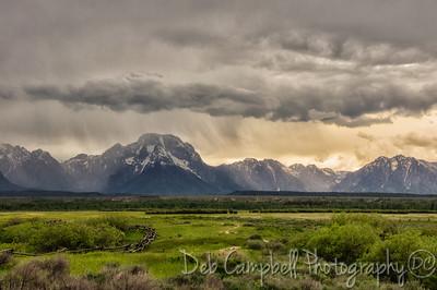 Storm over Mount Moran