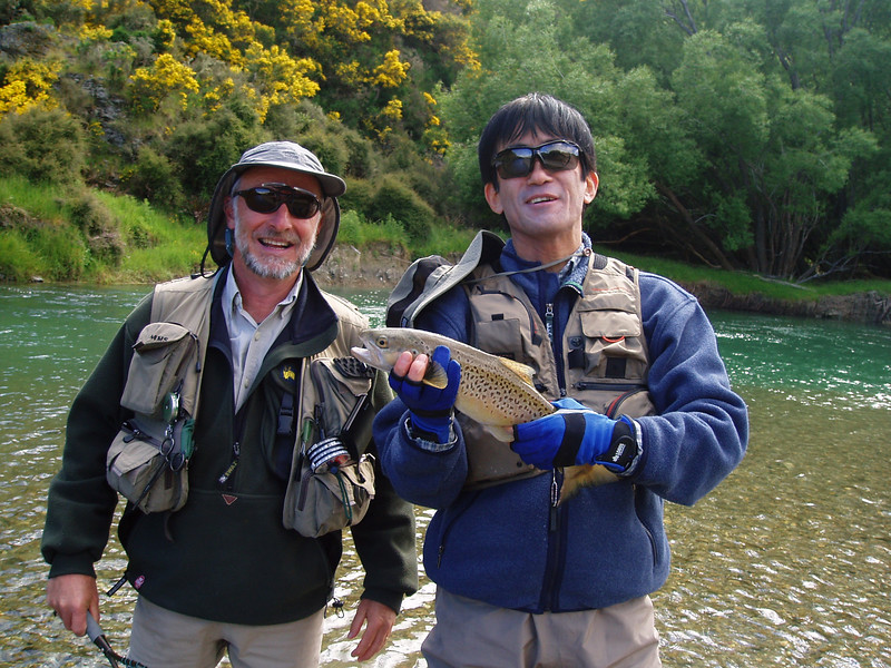BRAUN TRAUT! Before Trekking we enjoyed fly fishing near Queenstown