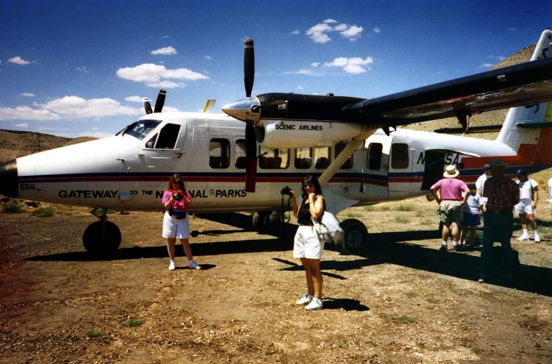 Arriving at The Grand Canyon North Rim airstrip