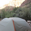 Our Big Agnes test at Cottonwood Campground.