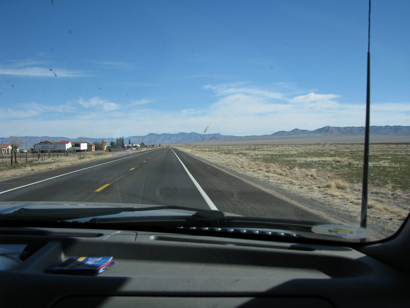 On the road after breakfast,once passed the fuel stations on Andy Devine (route66) it opens up.