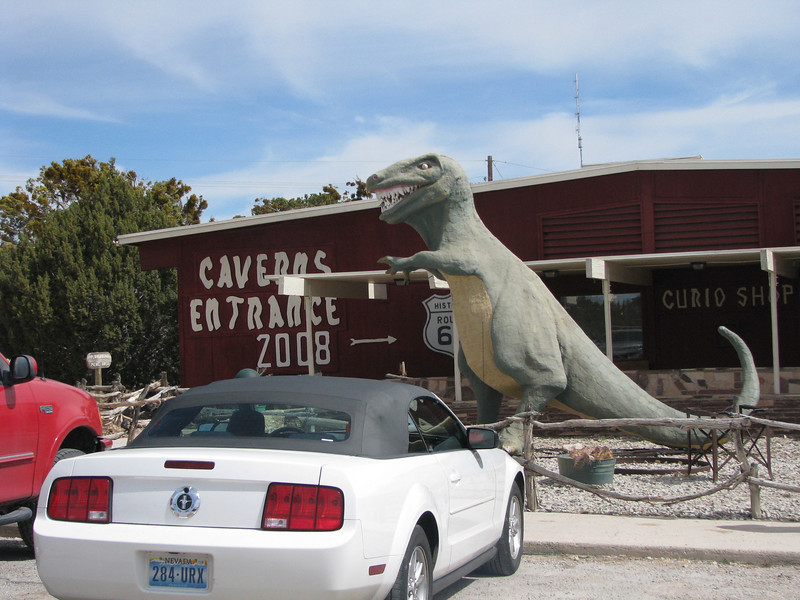 It's a adventure to get passed this fierce Tyrannosaurus Rex guarding the gates to yawn carvern.