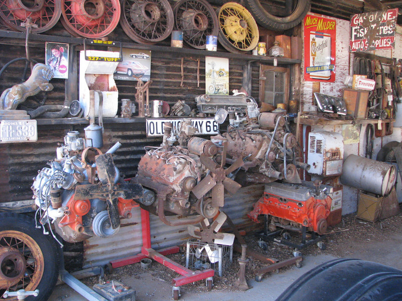 Several flathead V-8 are on display, my wife had never seen this type of automotive engine.