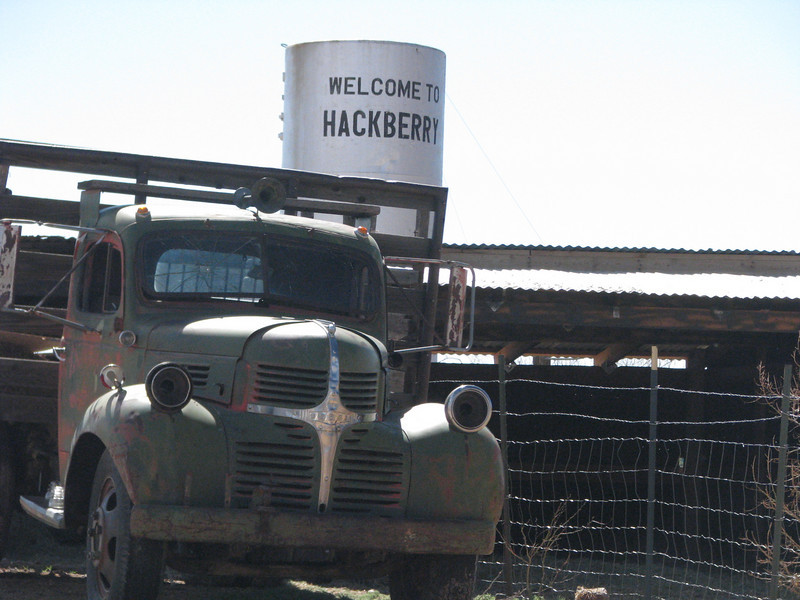 We didn't know what to expect cruising the famous Route 66, we saw this place called Hackberry, we stopped to poke around.
