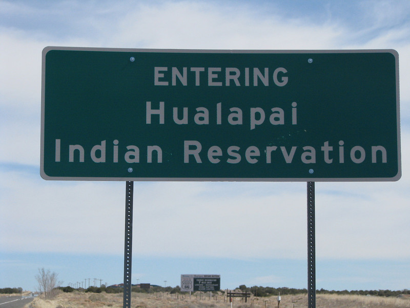 We reached the border of the  Indian reservation.