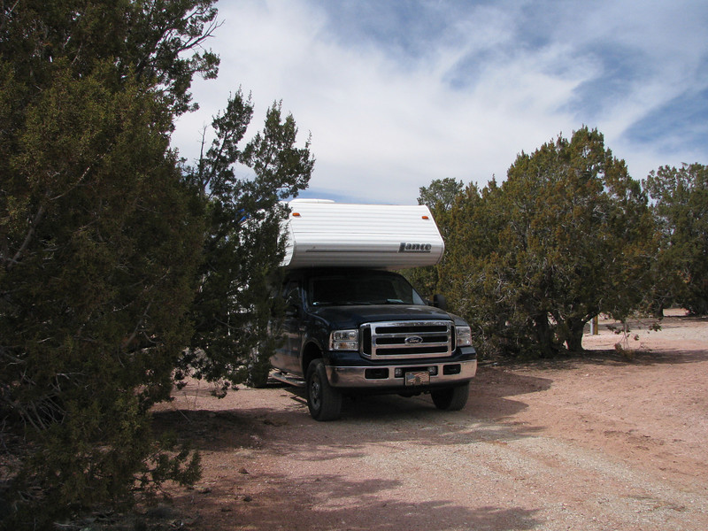 We drove around the campgound to check over the place, it wasn't long to pick out a site.