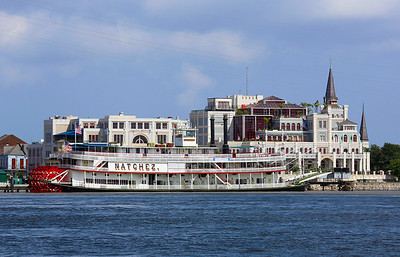 The day before we board our boat.  Seeing sights.  The Natchez is is the last authentic riverboat.