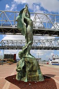 Mother River sculpture.