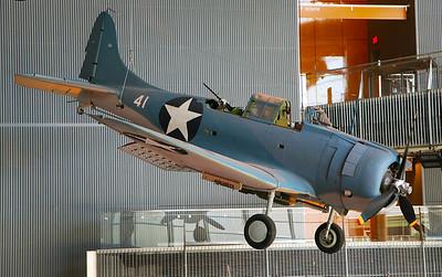 The Douglass Dauntless dive bomber.