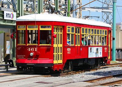 Riverfront trolley.