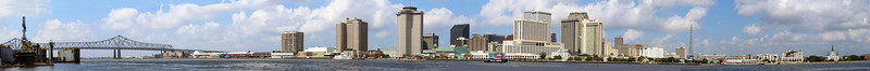 New Orleans skyline seen from the Mississippi River