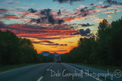 Sunrise on Interstate 81