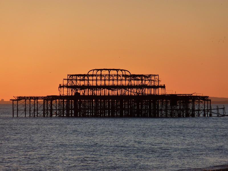 Brighton, the old pier