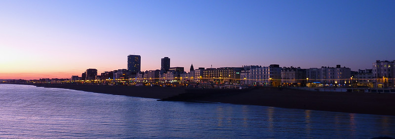 Brighton, panorama stitched with Autopano Giga