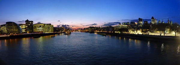 London, view from Tower Bridge