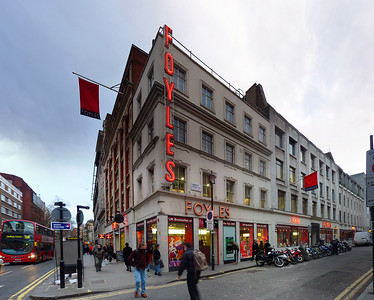 Foyles library, London. Stitched panorama.