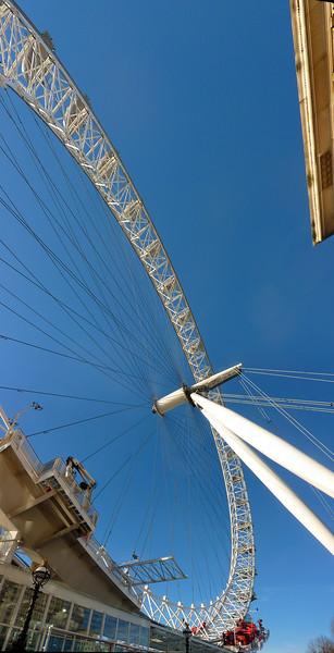 Stitched Panorama London eye, London