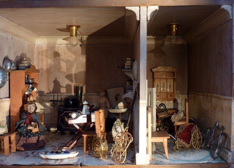 Dollhouses, V&A Childhood Museum, London, UK
