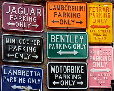 Driving plates, Portobello Road, Notting Hill, London