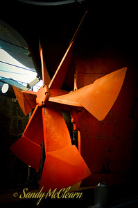 The propeller on S.S. Great Britain in Bristol.