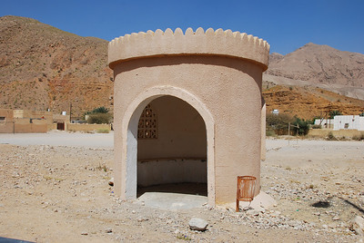 Love it.  A bus stop in a wadi on the Muscat-Sur road.