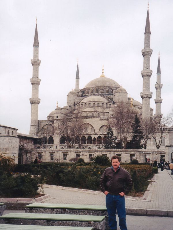2000 - Istanbul, Turkey.  One of themost impressive structures we have ever visited is the famous Blue Mosque in Instanbul.