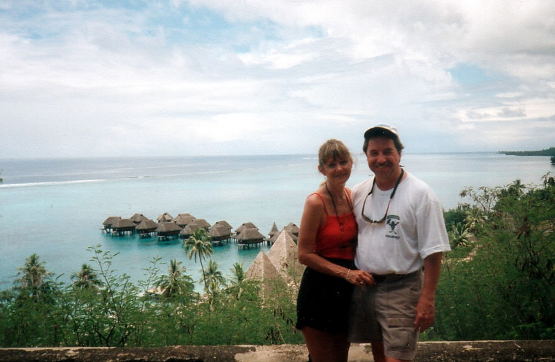 1998 - Pam's and my first big trip together.  Visiting the Tahitian Island of Moorea.