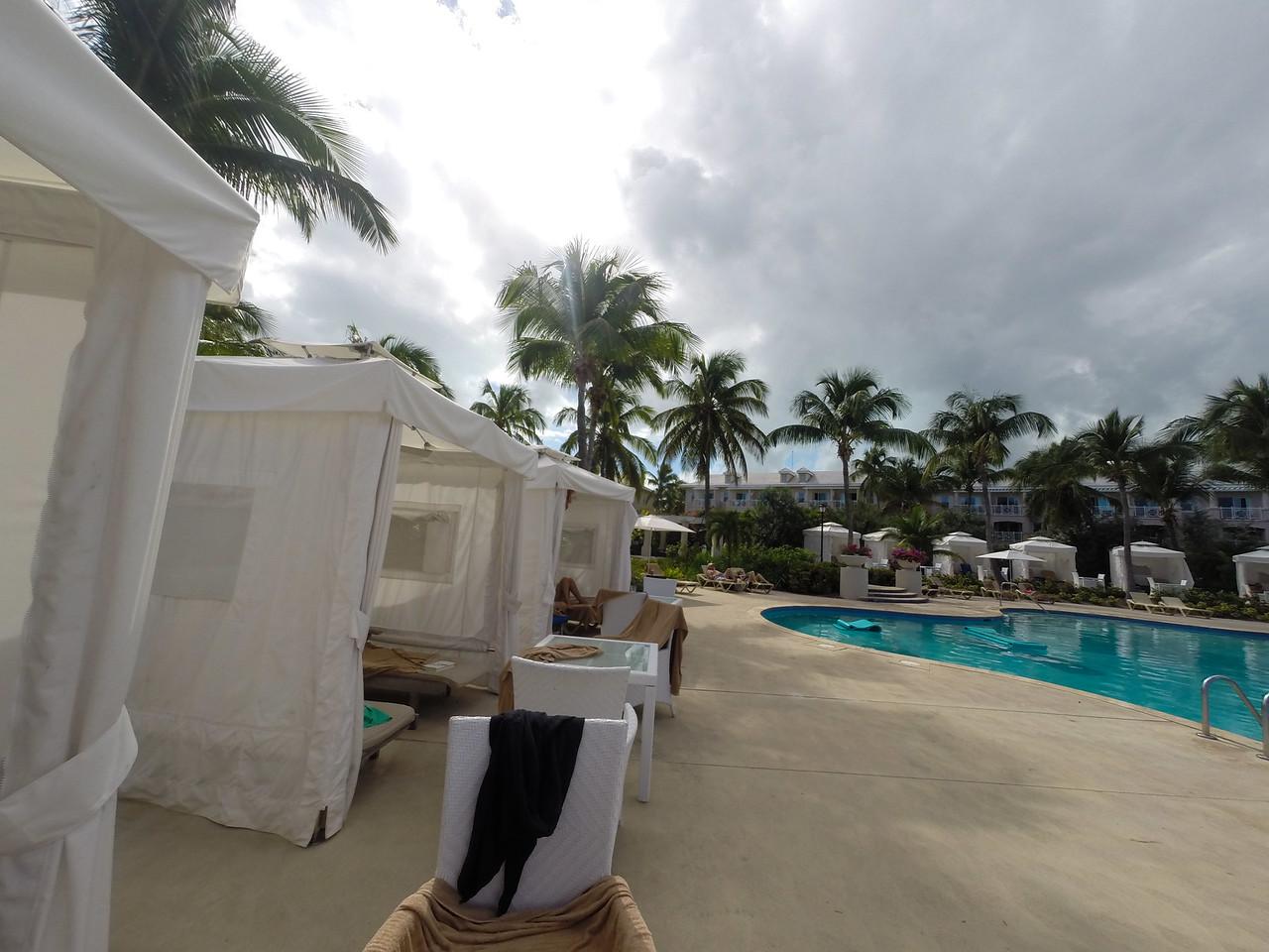 Quiet Pool Cabanas
